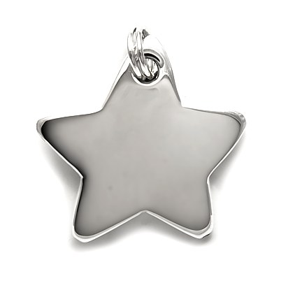 Bombe star shaped silver pendant