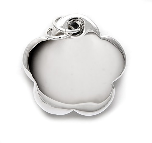 Bombe flower shaped silver pendant